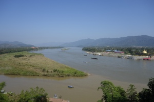 Myanmar on the left, Laos on the right